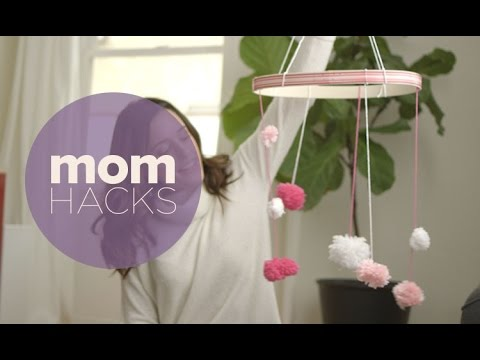 Mom Hacks: Easy DIY Pom Pom Mobile