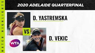 Dayana Yastremska vs. Donna Vekic   2020 Adelaide International Quarterfinal   WTA Highlights