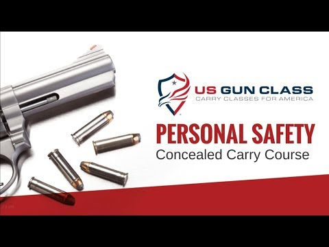Online Concealed Carry Class - Lesson 1 Personal Safety