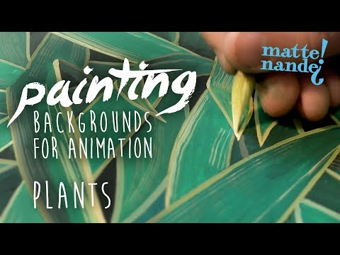How To Paint Plants | Painting Backgrounds for Animation #03