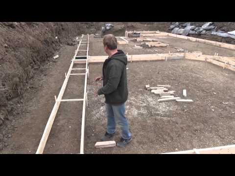 How to Build a House: Pouring the Footing Ep 18