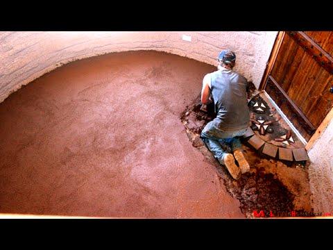 Install Earthen, Cob Floor  |  Earthbag Construction Ep 17 | Weekly Peek