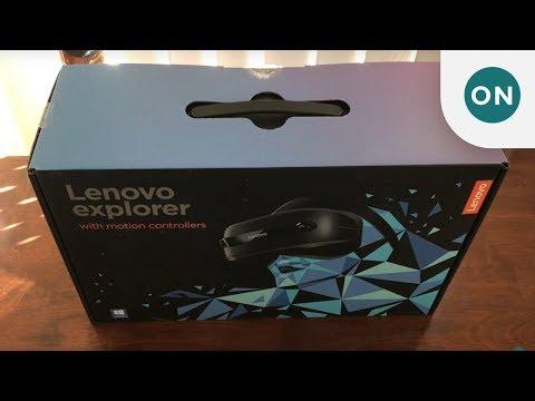 Lenovo Explorer Windows Mixed Reality headset unboxing
