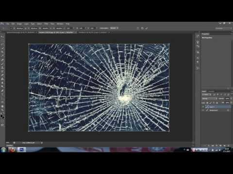 Photoshop CS6 broken Glass effect
