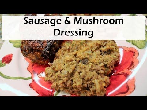 Sausage Mushroom Dressing | Stuffing | Best Sausage Dressing | Thanksgiving Dressing | Chef Lorious