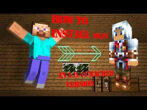 how to change skin minecraft 1.8.4 cracked version (team Extreme)