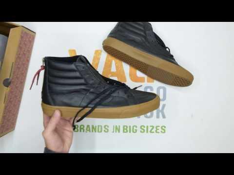 01b3009fe13 Vans SK8-Hi Reissue Zip - Black Gum - Walktall
