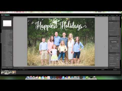 Creating a Christmas Card in Lightroom