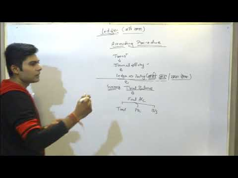 how to make/ maintance of ledger account for class 11 BCOM MCOM BBA SSC CGL tier 2 JIB