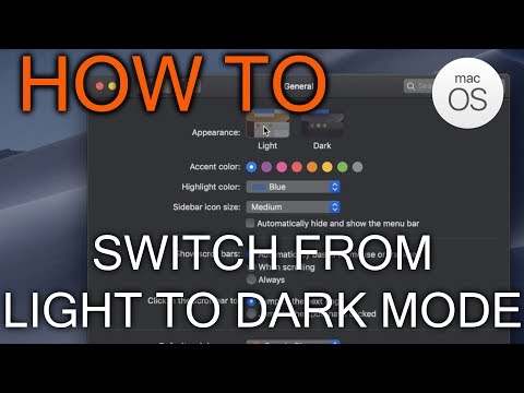 How to Switch From Light to Dark Mode in Mac OS Majove