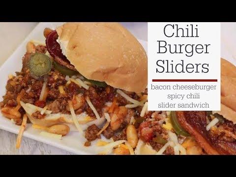 Chili Cheeseburger Sliders Recipe | RadaCutlery.com