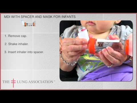 How to use a Metered Dose Inhaler / puffer with spacer and mask with an infant