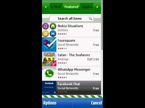 Nokia C5-03 Ovi store downloading