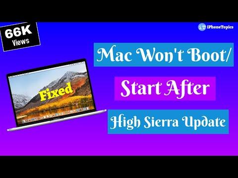 Fixed: Mac Won't Boot/Start After High Sierra Update