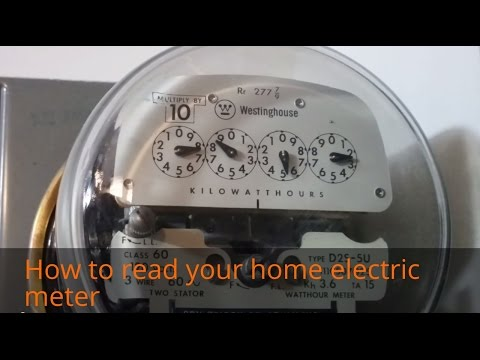 How to read your home electric meter