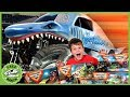 Dinosaurs Giant Trucks Monster Jam Adventure With Kids Surprise Toys Life Size Dinosaur Escape
