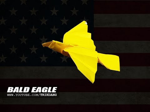 ORIGAMI EAGLE - How to make a Paper Bird | Bald Eagle