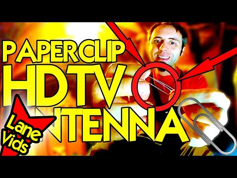 How To BUILD The BEST HDTV ANTENNA with a PAPERCLIP! | Homemade HDTV Antenna DIY  - 360 Video