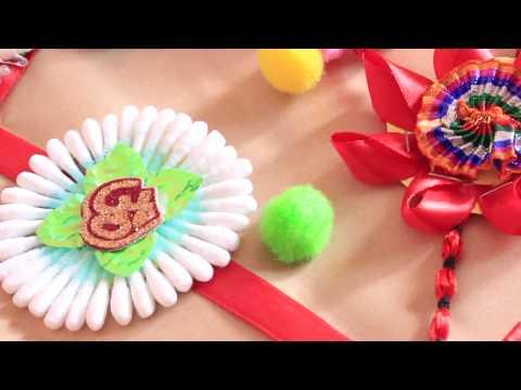 How to make Rakhi at home  5 DIY Rakhi in just Rs 100   DIY Rakhi   Easy Rakhi   Cotton Swab Rakhi