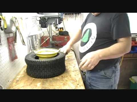 Tire Change Garden Tractor.