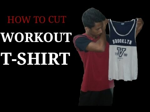 How to Cut a REGULAR T-shirt to WORKOUT T-shirt | {Tank Top}