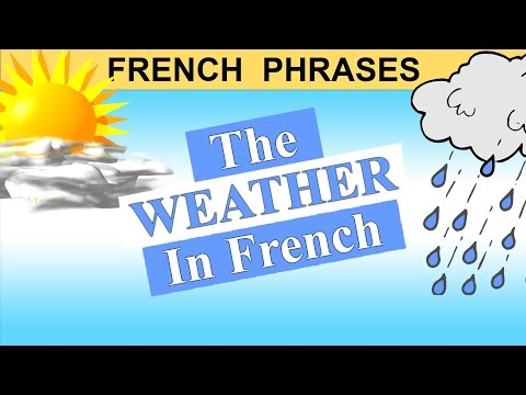 FRENCH PHRASES - THE WEATHER IN FRENCH - beginners