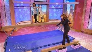 Gabby Douglas Teaches Wendy How To Walk The Balance Beam