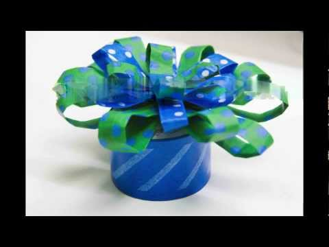 How to make a Snazzy Tape Gift Bow by Mavalus