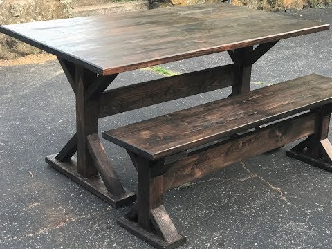 How to build a Trestle Farmhouse Table