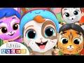 Let's do the Animal Dance | Face Paint Song | Little Angel Kids Songs