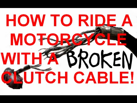Ride a motorcycle with a broken clutch cable #WITHCAPTIONS