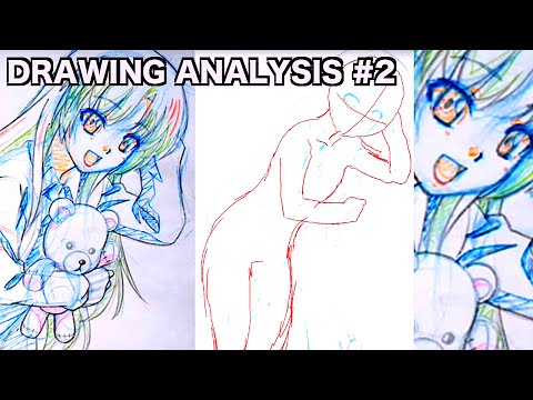 Japanese ANIME STYLE Drawing Analysis #2|How to improve drawing skills