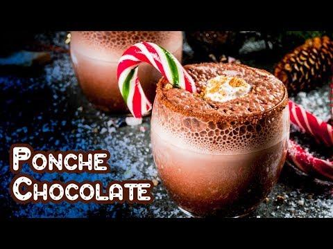 Ponche de Chocolate Sin Huevos Receta Facil