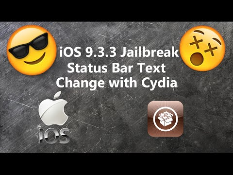 How To Change Carrier Text On Status Bar? [iOS 9.3.3 Jailbreak,Cydia]