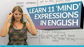 Learn English: 11 'mind' expressions