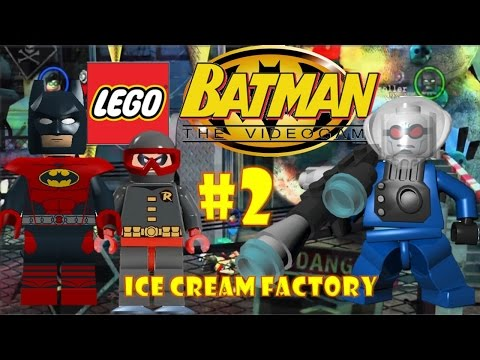 LEGO Batman: The Videogame (DS) - Part 2: Ice Cream Factory [Hero's Story] 720p