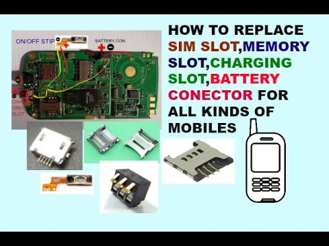 How To Replace Memory,Sim,Battery,Charging,Airphone Slot