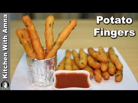 Crispy Potato Fingers - Snack Recipe for Tea Time - Kitchen With Amna
