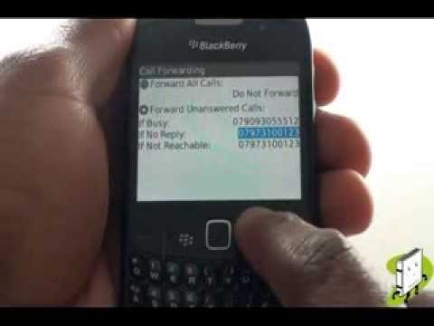 How to setup call diverts on your BlackBerry Curve 8520 | The Human Manual