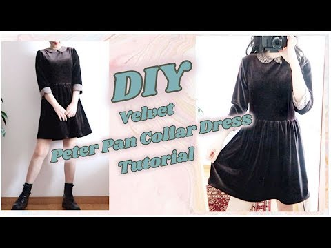 DIY Velvet Peter Pan Collar Dress / 手作り服 / 옷만들기 / 手作教學 / Costura / Sewing Tutorialㅣmadebyaya