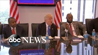 Trump Meets With Black and Hispanic Leaders in Manhattan