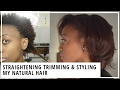 4. How I Blow Dry, Straighten, Trim, & Style My Natural Hair