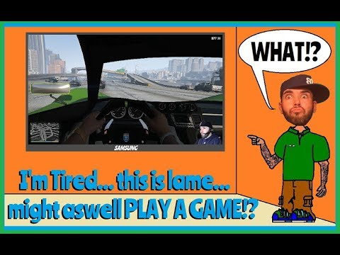 I'm tired... this is lame...might as well PLAY A GAME!? (GTAV censored)