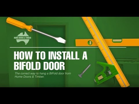 How to install a bifold door