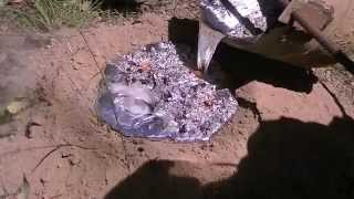 Download 52 kg (114 lb) Aluminium Casting of a Giant Brown Bull Ant Nest - Myrmecia brevinoda - 2015/03/07 Video