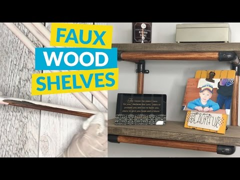 Faux Wood PVC Shelves