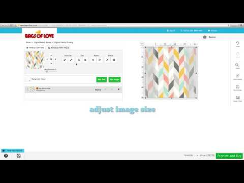 How to Use Tiling Effects to Create Repeat Pattern When Printing Fabrics Online at Bags of Love