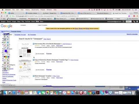Google Docs Newspaper Templates