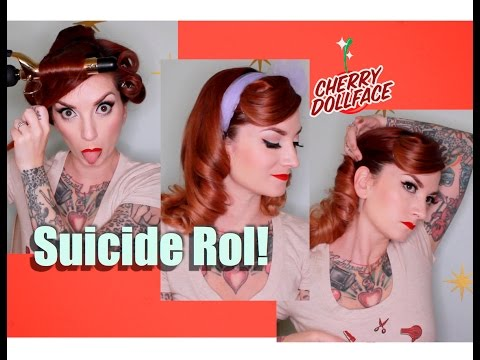 Vintage Hair Tutorial: Easy Suicide Roll! by CHERRY DOLLFACE