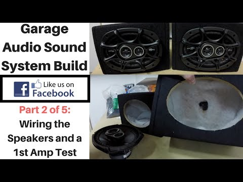 Building a Garage Audio System Part 2: Wiring the Speakers